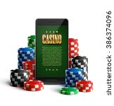 illustartion of casino chips... | Shutterstock .eps vector #386374096