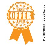 best offer icon on white ... | Shutterstock .eps vector #386381776