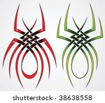 set of templates of spiders for ... | Shutterstock .eps vector #38638558