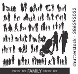 set of very detailed family... | Shutterstock .eps vector #386393032