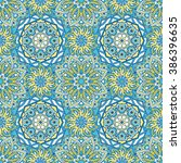 seamless oriental ornamental... | Shutterstock .eps vector #386396635