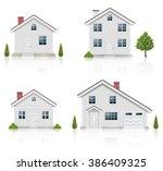 white house icons set | Shutterstock . vector #386409325