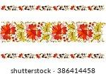 petrykivska painting  ... | Shutterstock .eps vector #386414458