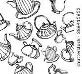 kettle seamless pattern.kettle... | Shutterstock .eps vector #386415652