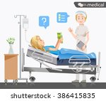 a nurse reported a disease to... | Shutterstock .eps vector #386415835
