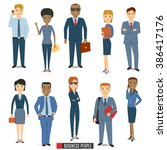 team of business people. ... | Shutterstock .eps vector #386417176