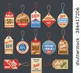 sale tags collection. vector... | Shutterstock .eps vector #386417206