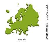 isometric map of europe... | Shutterstock .eps vector #386422666
