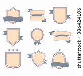 modern flat design badges... | Shutterstock .eps vector #386424106