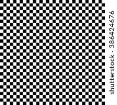 Modern Checkered Pattern Black and White Texture Chess Print