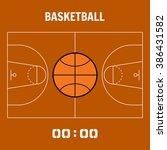 basketball court  the plan... | Shutterstock .eps vector #386431582