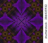 abstract purple star pattern | Shutterstock . vector #386435932