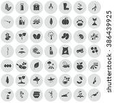 set of forty nine agriculture...   Shutterstock .eps vector #386439925