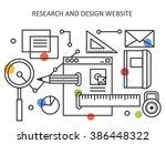 research and design website in... | Shutterstock .eps vector #386448322