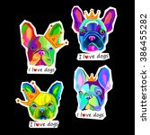 dog vector breed cute pet... | Shutterstock .eps vector #386455282