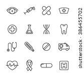 healthcare medical line web... | Shutterstock .eps vector #386455702