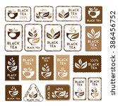 black tea package decorations.... | Shutterstock .eps vector #386456752