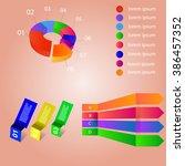 info graphics pie sticker