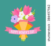 happy women's day. beautiful... | Shutterstock .eps vector #386457562