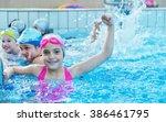 happy children kids group at... | Shutterstock . vector #386461795