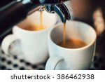 close up image of espresso... | Shutterstock . vector #386462938