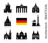 germany  berlin travel landmark ... | Shutterstock .eps vector #386472106