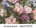Stock photo beautiful bouquet flower for background vintage filter 386475952