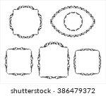 set calligraphic frames ... | Shutterstock .eps vector #386479372