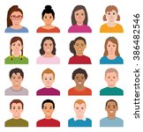 vector illustration of a set of ... | Shutterstock .eps vector #386482546