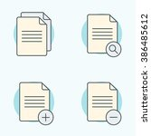 document icons set. search ...