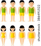 lifestyle icons set with people ... | Shutterstock .eps vector #386491522