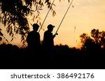 Two Fisherman At Sunset....