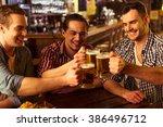 three young men in casual...   Shutterstock . vector #386496712