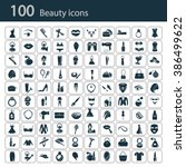 set of one hundred beauty icons | Shutterstock .eps vector #386499622