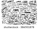 vector hand made doodle of word ... | Shutterstock .eps vector #386501878