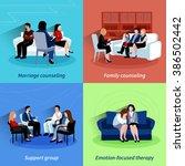 relationship counseling 4 flat... | Shutterstock . vector #386502442