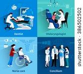 medical specialists 4 flat... | Shutterstock . vector #386502502