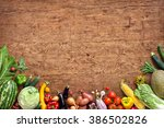 healthy food background. studio ... | Shutterstock . vector #386502826