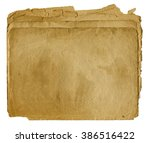 old blank papers stack isolated ... | Shutterstock . vector #386516422