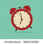 alarm clock  wake up time | Shutterstock .eps vector #386516506