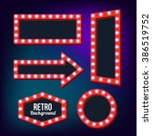 Red Retro Signs. Neon Night...