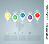 time line infographic and icons ... | Shutterstock .eps vector #386520802