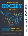 ice hockey championship poster. ... | Shutterstock .eps vector #386531206