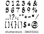 numerals and symbols... | Shutterstock . vector #38653261