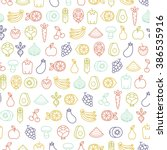 seamless pattern with fruits... | Shutterstock .eps vector #386535916