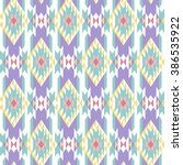 seamless pattern with ethnic... | Shutterstock .eps vector #386535922