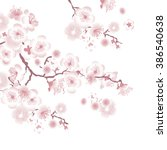 white tree blossom design...   Shutterstock .eps vector #386540638