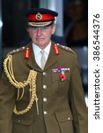 Small photo of LONDON - NOV 8, 2015: General Sir John Nicholas Houghton GCB, CBE, ADC Chief of the Defence Staff of the British Armed Forces attends the Andrew Marr show at the BBC on Nov 8, 2015 in London