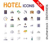 hotel service. icon set for web ... | Shutterstock .eps vector #386544856