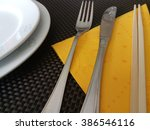 Cutlery details - stock photo